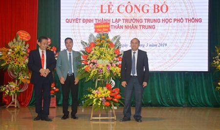 Lễ công bố Quyết định thành lập Trường THPT Thân Nhân Trung