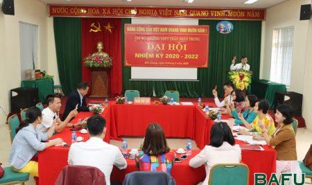 Đại hội Chi bộ Trường THPT Thân Nhân Trung nhiệm kỳ 2020-2022