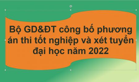 Bộ GD&ĐT công bố phương án thi tốt nghiệp và xét tuyển đại học năm 2022
